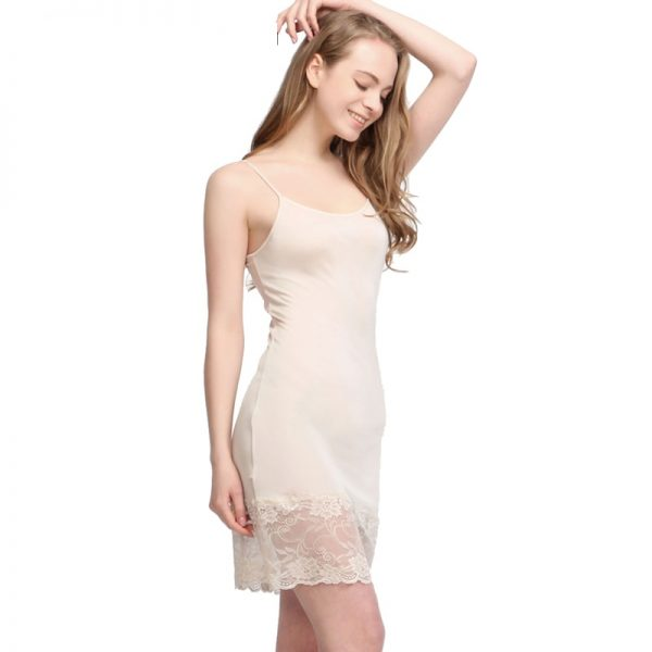 100% Natural SILK Lace Slip For Women